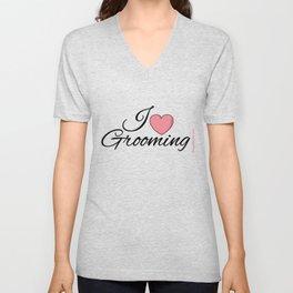 I Love Grooming Unisex V-Neck