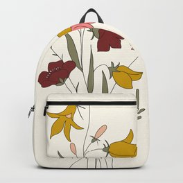 Wildflowers Bouquet Backpack