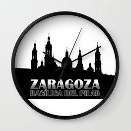 La Basílica del Pilar de Zaragoza Wall Clock