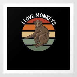 Monkey Lover Art Print