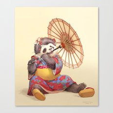 Panda Geisha Canvas Print