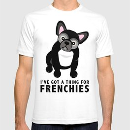 Cute French Bulldog Pattern T-shirt