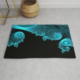 Black Ice - Fractal Art Rug