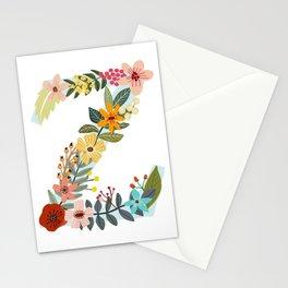 Monogram Letter Z Stationery Cards