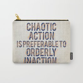 Chaotic Action Carry-All Pouch