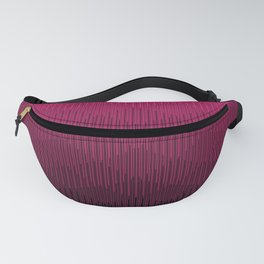 Magenta to Black Ombre Signal Fanny Pack