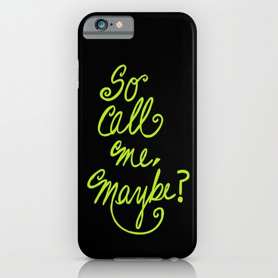 Call me maybe song lyrics iPhone & iPod Case