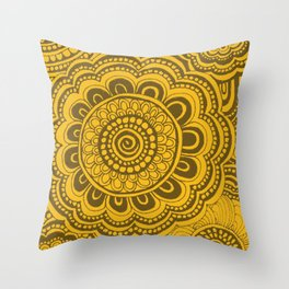 Bumblebee Anemone Flowers Throw Pillow
