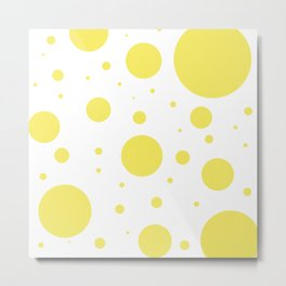 Yellow Bubbles Metal Print