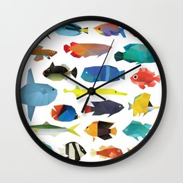 Tropical Fish chart Wall Clock