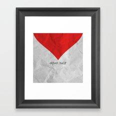 find you half (part 2 of 2) Framed Art Print