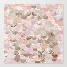 MERMAID SHELLS - CORAL ROSEGOLD Canvas Print