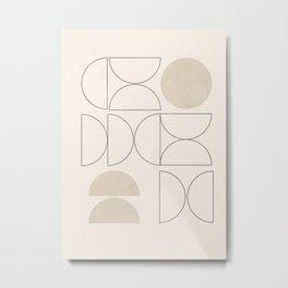 Minimal Geometric 41 Metal Print
