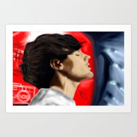 louis tomlinson Art Prints featuring Louis Tomlinson by Manny D