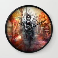 depression Wall Clocks featuring Depression by Mitul Mistry