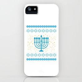 Lets Get Lit Hanukkah Jewish Festival Gift iPhone Case