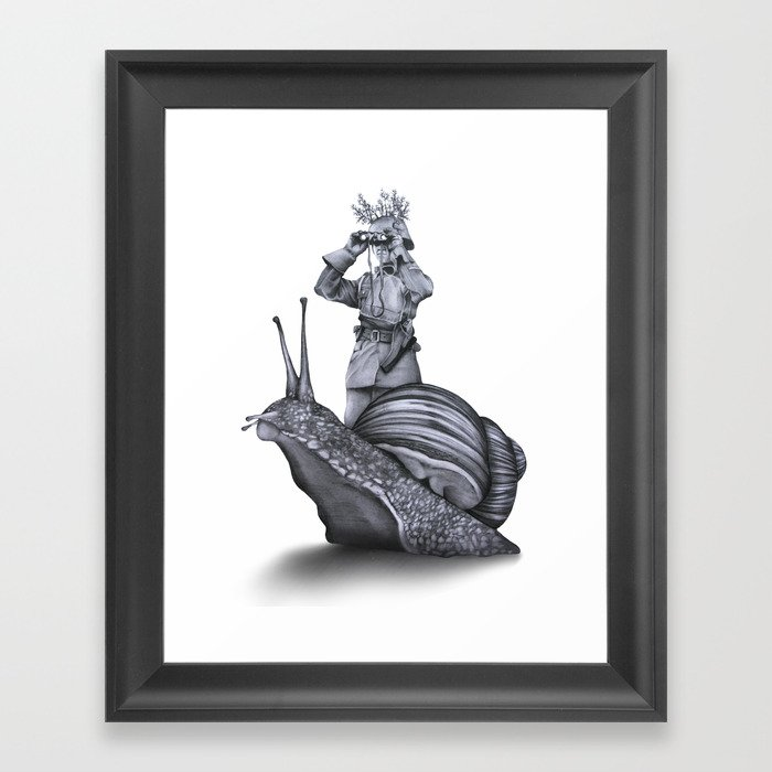 In which no explanation can be found Framed Art Print