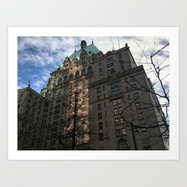 Hotel Vancouver with February Sky Art Print