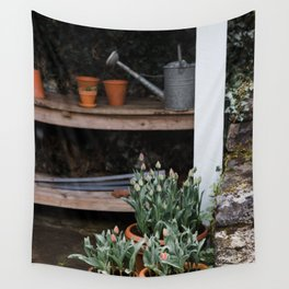 Spring Garden Shed Wall Tapestry