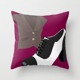 Fashion Statement Episode Oxfords & Vest Throw Pillow