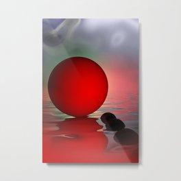 just red - portrait format Metal Print