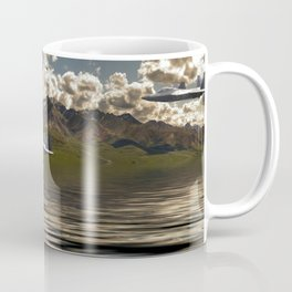 Jet Over Water Coffee Mug