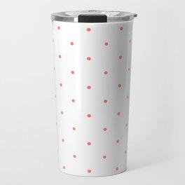 Pink Polka Dots Travel Mug