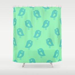 Little Birds (mint) Shower Curtain