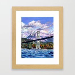 The Lion's Gate, Vancouver Framed Art Print