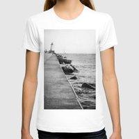 michigan T-shirts featuring Michigan Lighthouse by KimberosePhotography