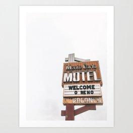 motel minimalism Art Print