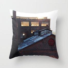 Bethlehem Steel Wear House at sunset. Throw Pillow