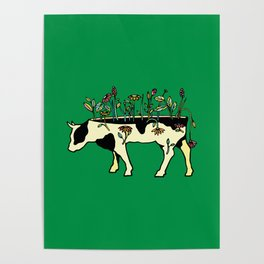 Cow Me Vegan Poster