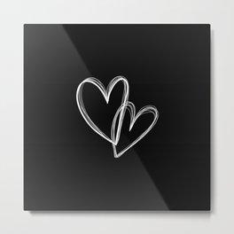 Heart 2 Heart 2 (on black) Metal Print