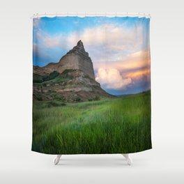 Scottsbluff - Landscape in Evening Light in Western Nebraska Shower Curtain
