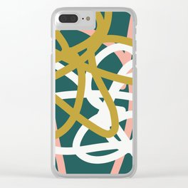 Abstract Lines 02B Clear iPhone Case
