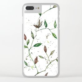 Leaves 1 Clear iPhone Case