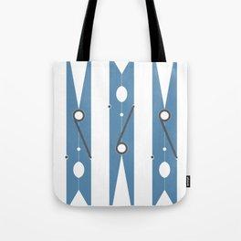 Clothespin navy Tote Bag