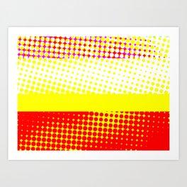 Red Yellow Stripe Pattern Design Art Print