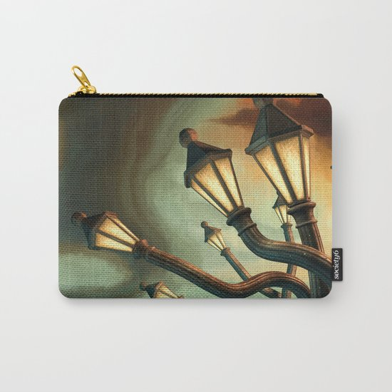 Drunk Streetlamps Carry-All Pouch