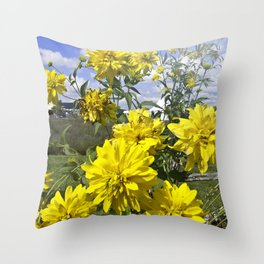 POWER FLOWER Throw Pillow