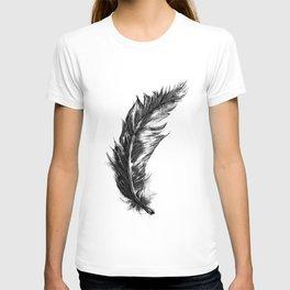 Feather- B&W // Illustration T-shirt