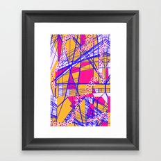 Bright Geo Framed Art Print