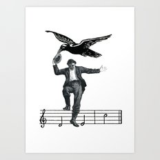 Saved By The Music Again  Art Print