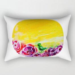 Hummingbird Heaven Summer Purple Flowers Rectangular Pillow