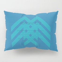 Romans 12v2 Blue Pillow Sham