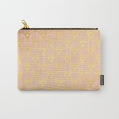 Gold and pink sparkling Mermaid pattern Carry-All Pouch