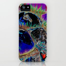 nature's blues, tropical plant study iPhone Case