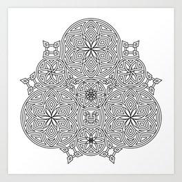 Balanced Flowering Hexad Art Print