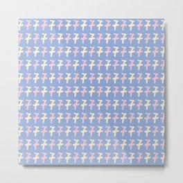 Type Number Seven Pattern Metal Print